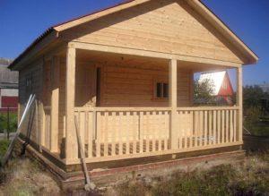 Дачный брусовой дом
